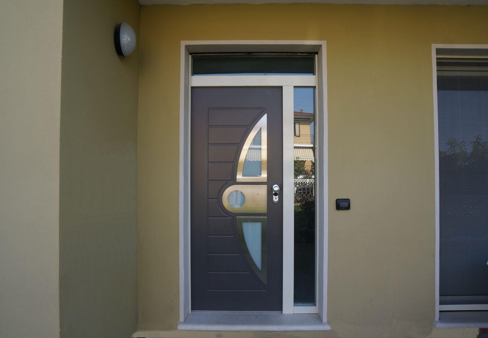 Bergamaschi serramenti porta blindata vetro porta for Porta ingresso vetro
